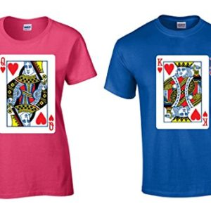Awkwardstyles King and Queen Matching Couple Shirts Playing Poker Card T-shirt