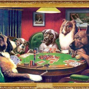 (24x36) C.M. Coolidge (Bold Bluff, Dogs Playing Poker) Art Poster Print