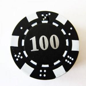 1x Black Poker Chip Refillable Butane Cigar Cigarette Lighter