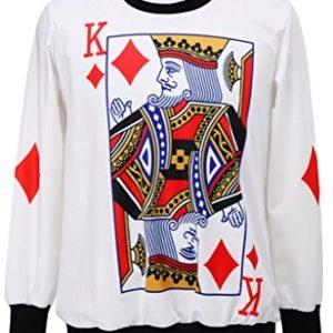 Dear-Lover Poker King Print Sweatshirt