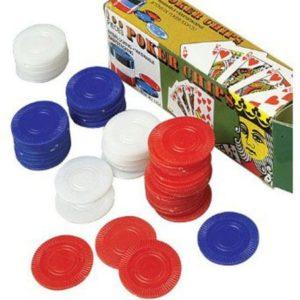100 Assorted Color Poker Chips - Set Of 100 Assorted Color Poker Chips